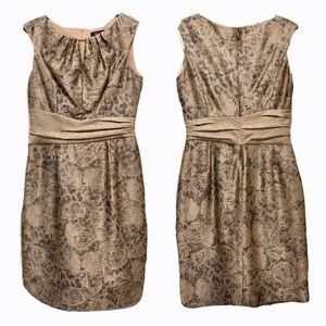 Ellen Tracy Metallic Jacquard Sheath Dress